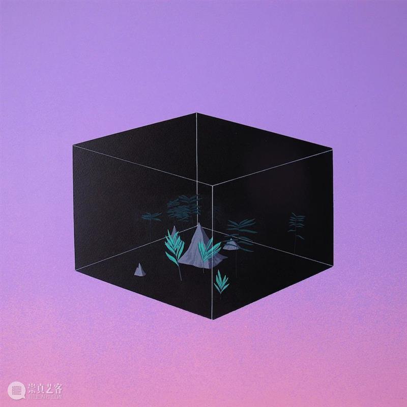 今日推荐|青年艺术家一文的黑色盒子中的景观 黑色 盒子 景观 艺术家 青年 虚空 宇宙 系列 作品 崩塌 崇真艺客