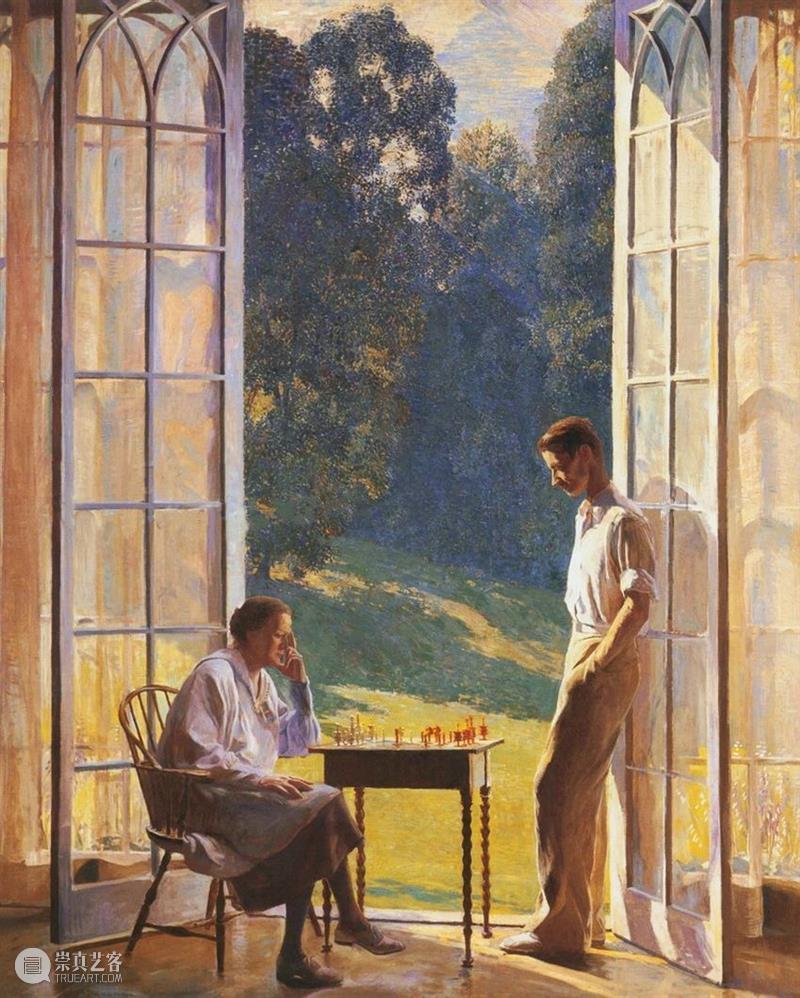 微风拂过,化作满园的郁香 微风 满园 郁香 浪漫主义 印象派 画家 Daniel Garber 美国 影响力 崇真艺客