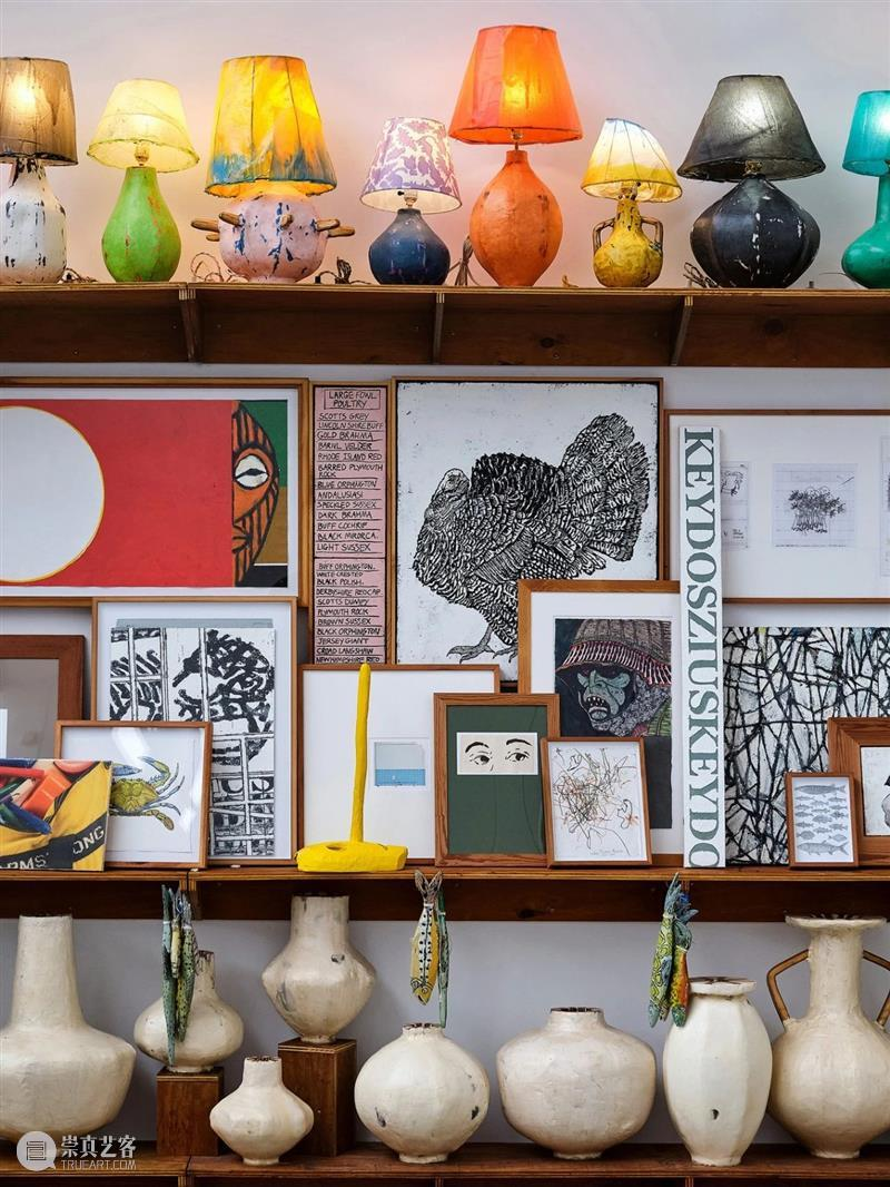    ARTWORK    Mural/Large Shelves Plece   Zachary Armstrong Armstrong ARTWORK cross pieces lamps pots paintings sketches Candles Faurs 崇真艺客