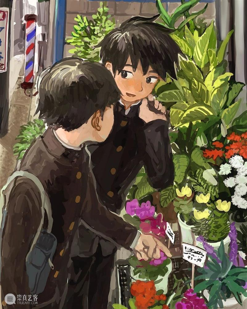 少年与爱永不老去 少年 日本 插画师 笔下 青葱 画风 风格 记忆 心弦 作品 崇真艺客