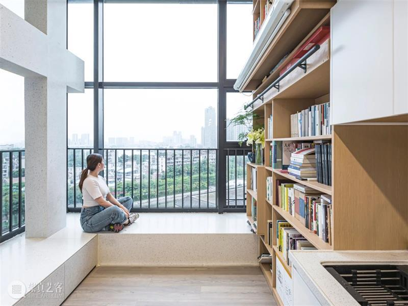 跃层公寓改造,拆除固有模块 / 泥木建筑工作室 建筑 泥木 工作室 跃层 公寓 模块 轴测图 书架 黄城 项目 崇真艺客