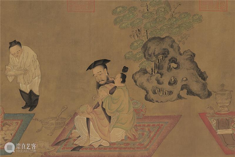 绘画图式中的石与山水 图式 山水 泰祥洲 中国 元素 古代 绘画 孙位 高逸图 徐熙 崇真艺客