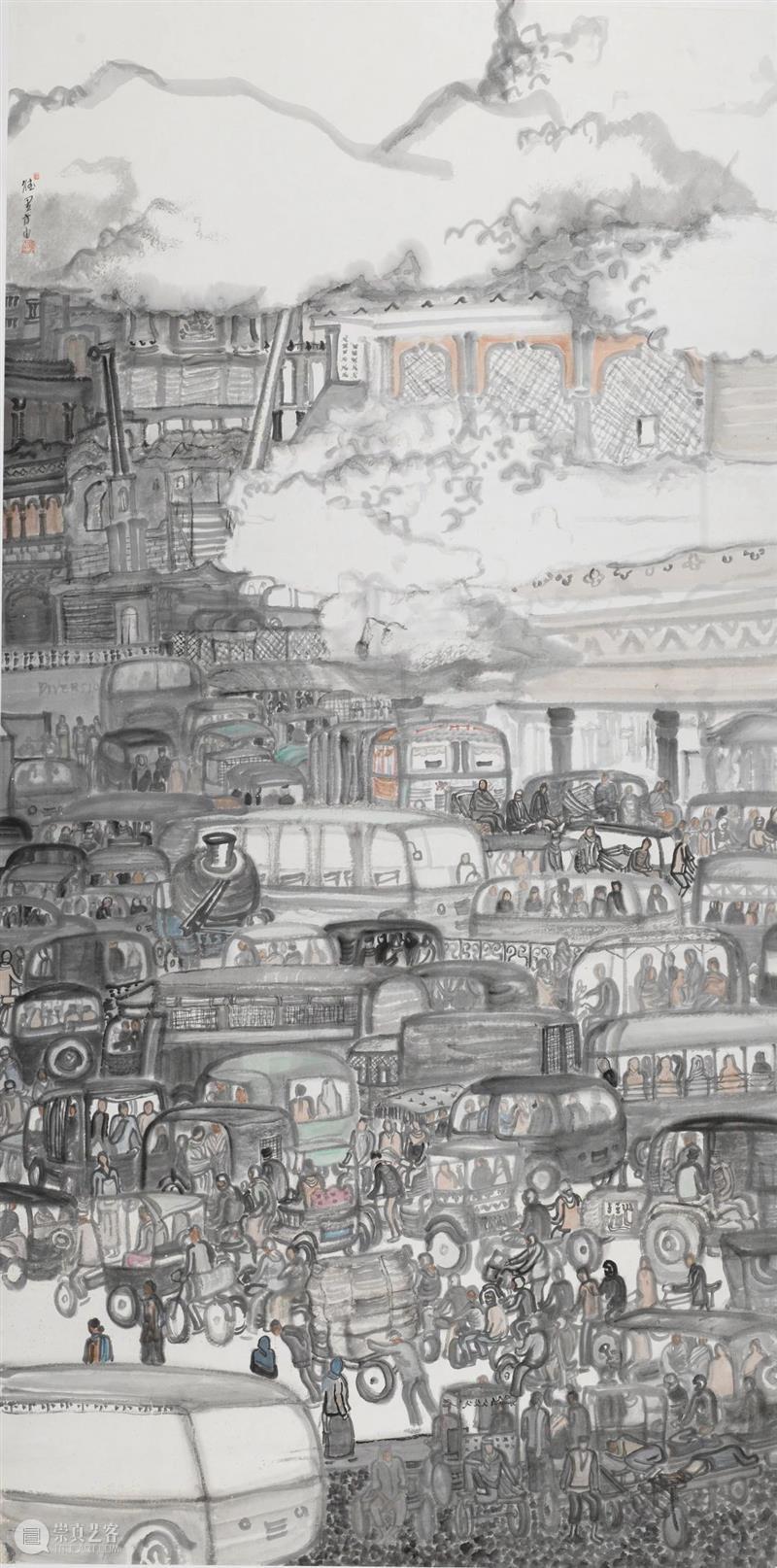 履新|第六届杭州中国画双年展·中堂篇 杭州 中国 双年展 中堂 内容 摘要 雅集 浙江美术馆 手卷 册页 崇真艺客
