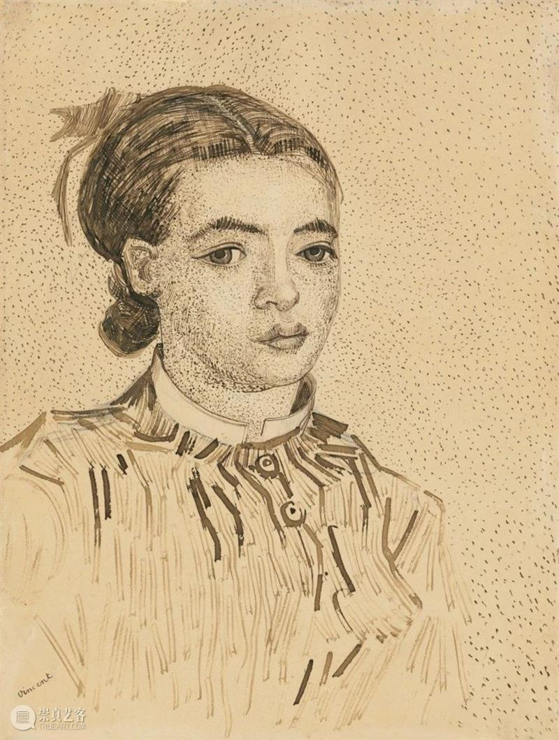《莫斯梅半身像》:梵高笔下的神秘少女  佳士得 梵高 莫斯梅半身像 神秘少女 笔下 文森特·梵高 纸上 作品 艺术 生涯 创意 崇真艺客