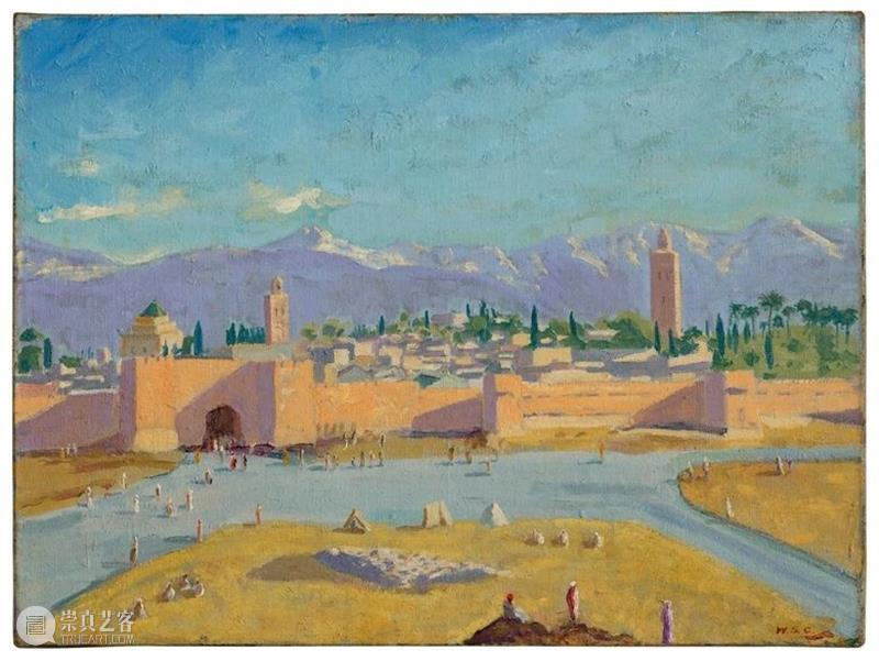 改变历史的风景画:丘吉尔唯一作于二战并赠予罗斯福的《库图比亚清真寺宣礼塔》 二战 丘吉尔 罗斯福 历史 风景 库图比亚清真寺宣礼塔 政治 人物 温斯顿·丘吉尔 Churchill 崇真艺客