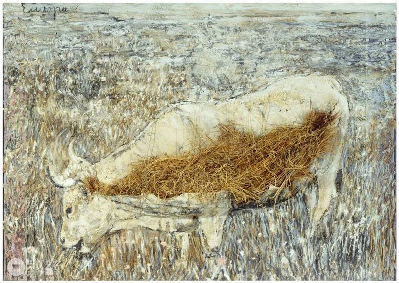 PSA牛年读牛图   《欧洲牛》——安塞姆·基弗 牛年 欧洲 安塞姆·基弗 PSA 牛图 周四 油彩 乳化剂 虫胶 稻草 崇真艺客