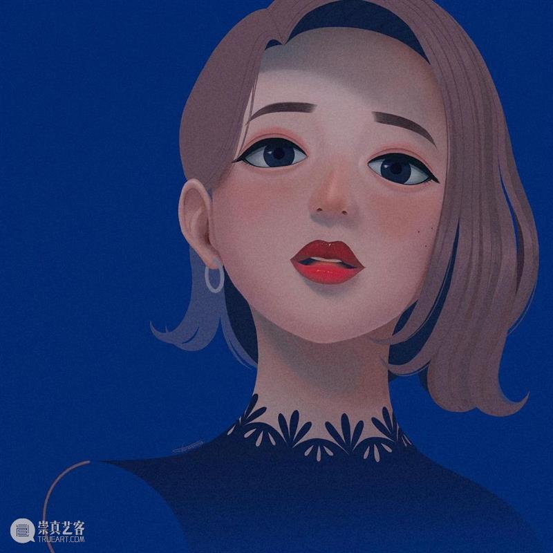 这是什么神仙配色 配色 神仙 日本 插画师@Choomoranma 人像 插画 风格 色彩 美感 作品 崇真艺客