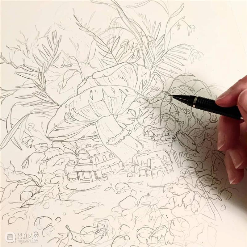 精致的手绘欣赏,会画画的人连绘本都可以自己来 ~  学美术,看▷ 手绘 绘本 END 崇真艺客