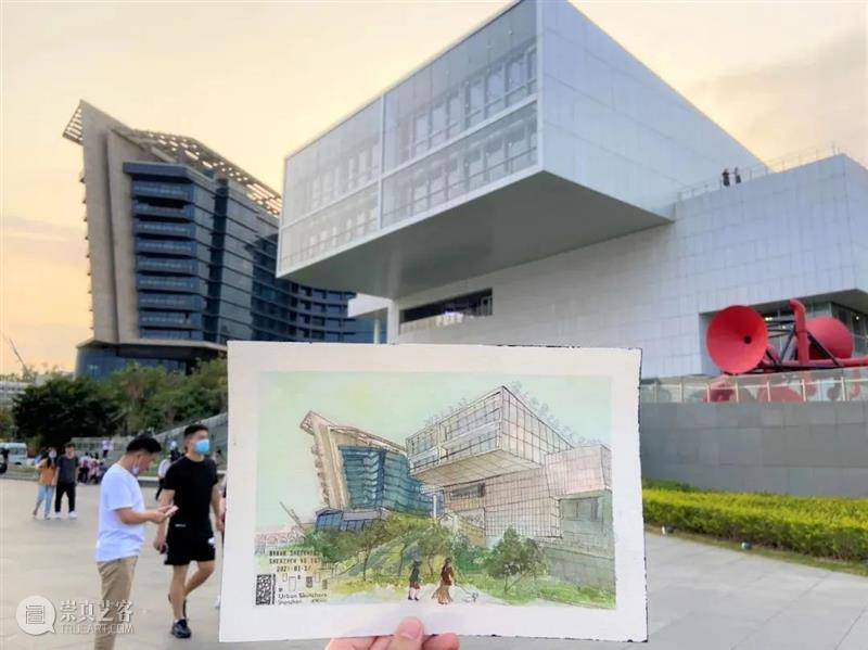 速写者眼中的艺术中心,太美了 视频资讯 海上世界文化艺术中心 崇真艺客