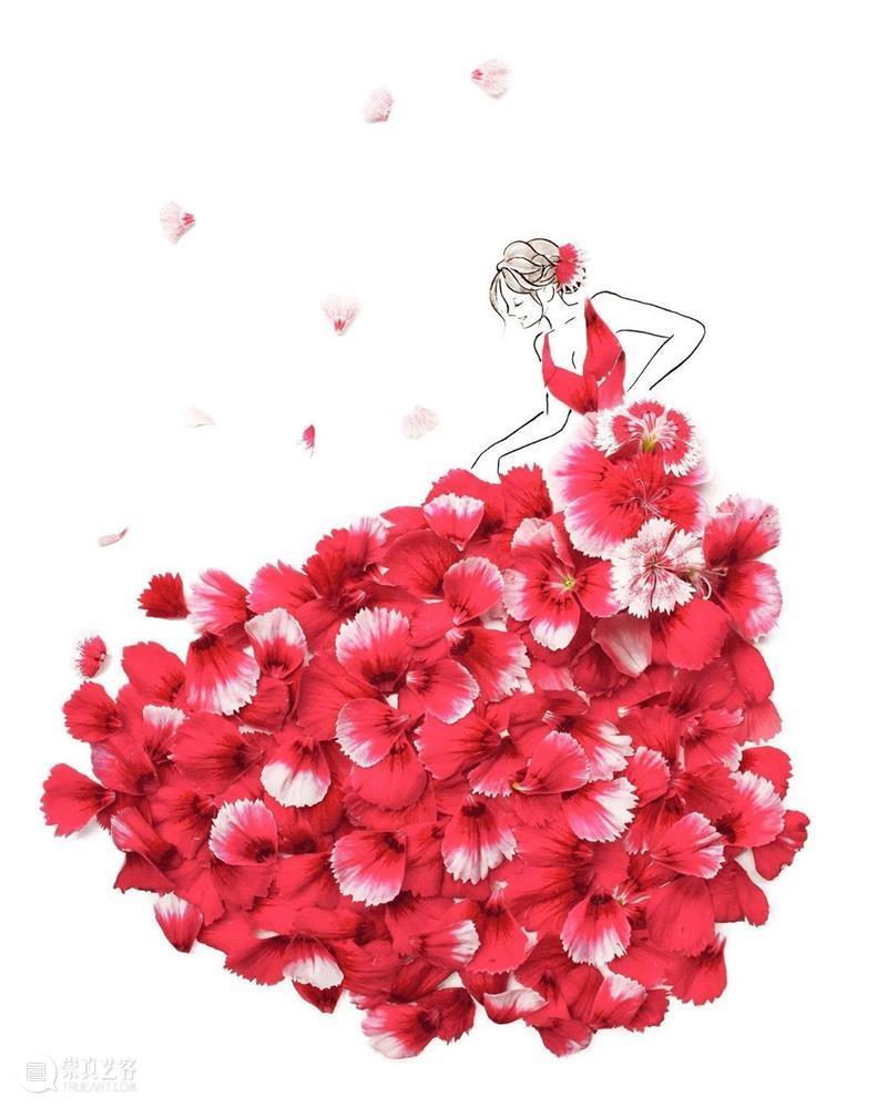 春天,和花瓣裙有个约会 花瓣裙 约会 艺术家 Hanaco Hana sakura 创意 世界 日本 婚纱 崇真艺客
