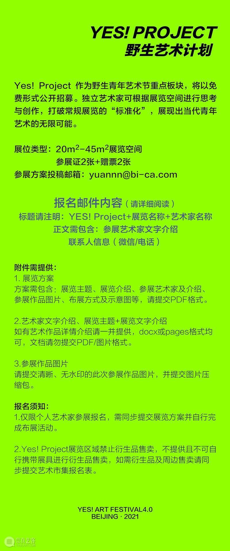 开启报名—北京时代美术馆6月携手2021野生青年艺术节 视频资讯 YAF 青年 艺术节 北京时代美术馆 杭州 纪录 短片 现场 主办方 Islands Art 崇真艺客