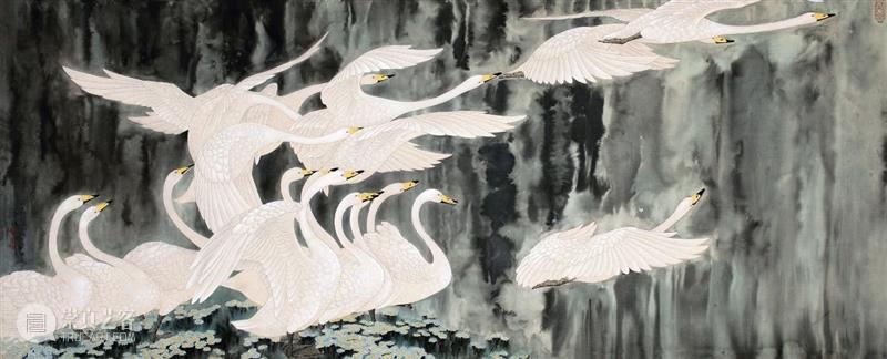 """现场""""第十一届全国工笔画作品展"""" 在中国美术馆盛大开幕 全国 工笔画 作品展 中国美术馆 现场 海报 开幕式 中国工笔画学会 中国美术家协会 之后 崇真艺客"""