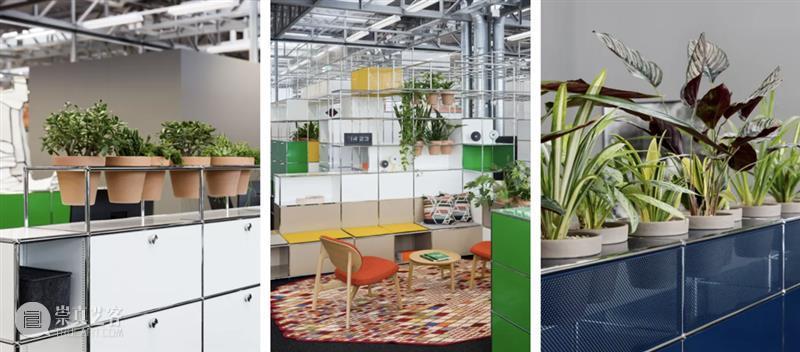 """瑞士家具品牌USM将携全新系列A World of Plants 首登""""设计上海""""2021 瑞士 家具 品牌 USM 上海 系列 Plants 右侧 二维码 原文 崇真艺客"""