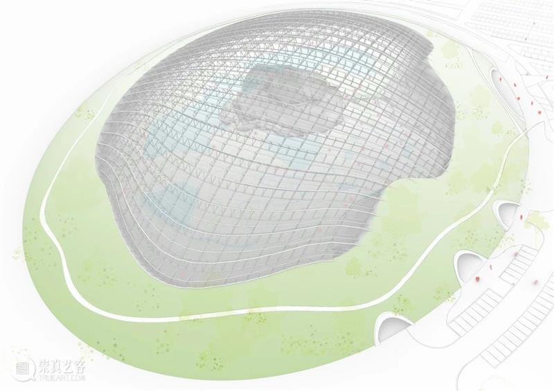 """世界上最大的""""庇护壳"""",2万平米35米高单穹顶温室 温室 世界上 穹顶 高单 非盈利 组织 Zuecca Tropicalia 方案 威尼斯 崇真艺客"""