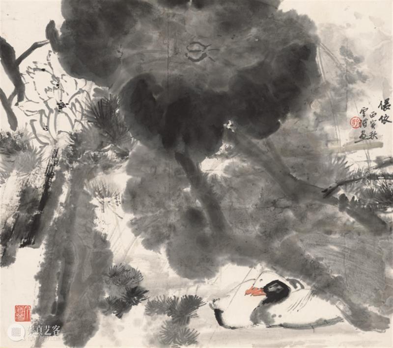 【中华艺术宫   每日一画】俞云阶《偎依——荷花双鸭》 中华艺术宫 偎依——荷花双鸭 俞云阶 荷花双鸭 中国 作品 水墨 长时间 西洋 油画 崇真艺客