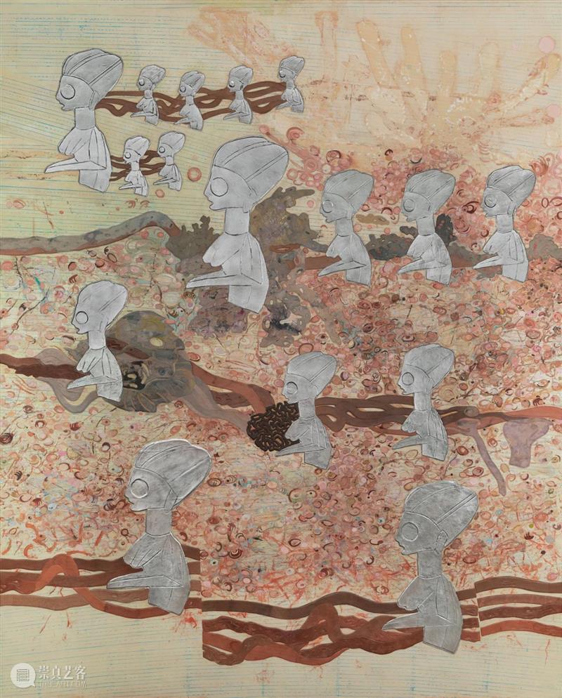 展览现场:埃伦·加拉格尔个展「渔获的狂喜」@豪瑟沃斯伦敦 埃伦·加拉格尔 渔获 豪瑟 沃斯 伦敦 现场 个展 Gallagher 层次 作品 崇真艺客