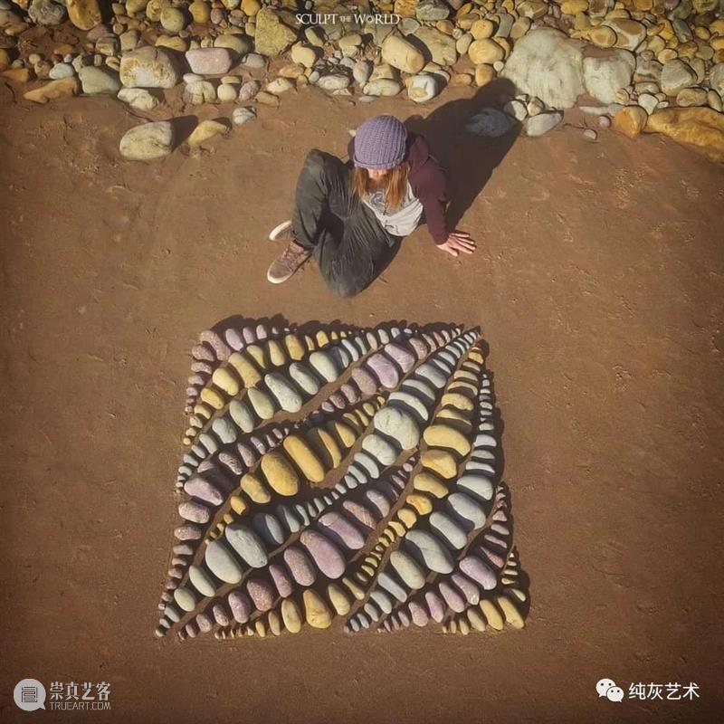 秩序之美 秩序 石头 英国 艺术家 Foreman 彩色 岩石 装饰 风景 作品 崇真艺客
