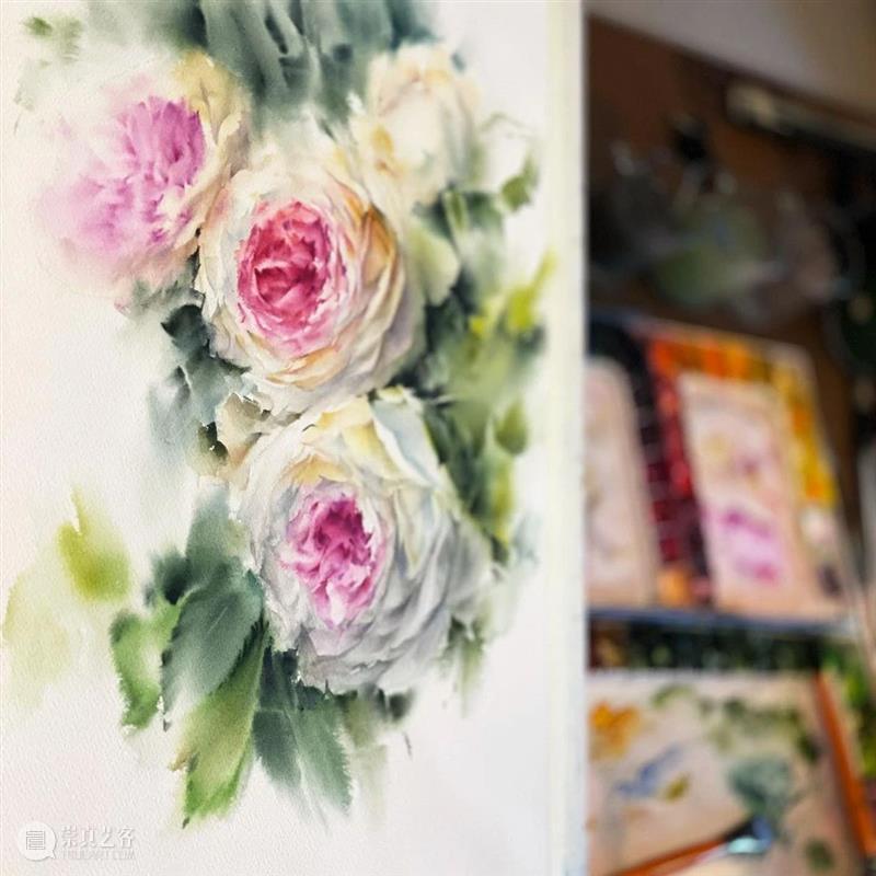 真的美,水彩花卉的效果无敌了 ! 水彩 花卉 效果 END 崇真艺客