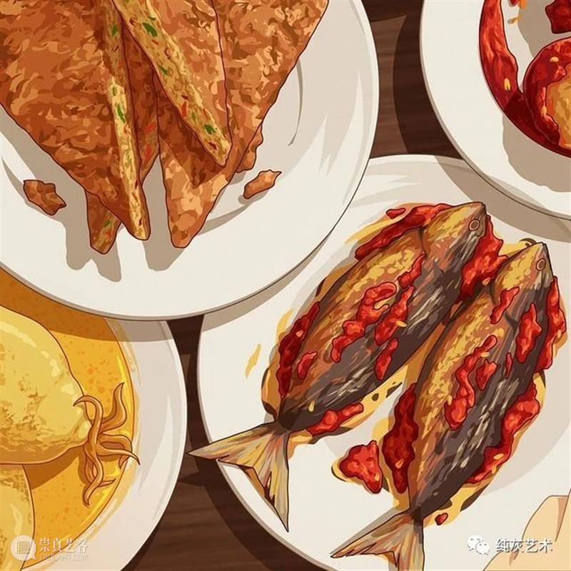 舌尖上的印尼 舌尖 印尼 插画师 作品 当地 食品 饮料 网友 童年 艺术 崇真艺客