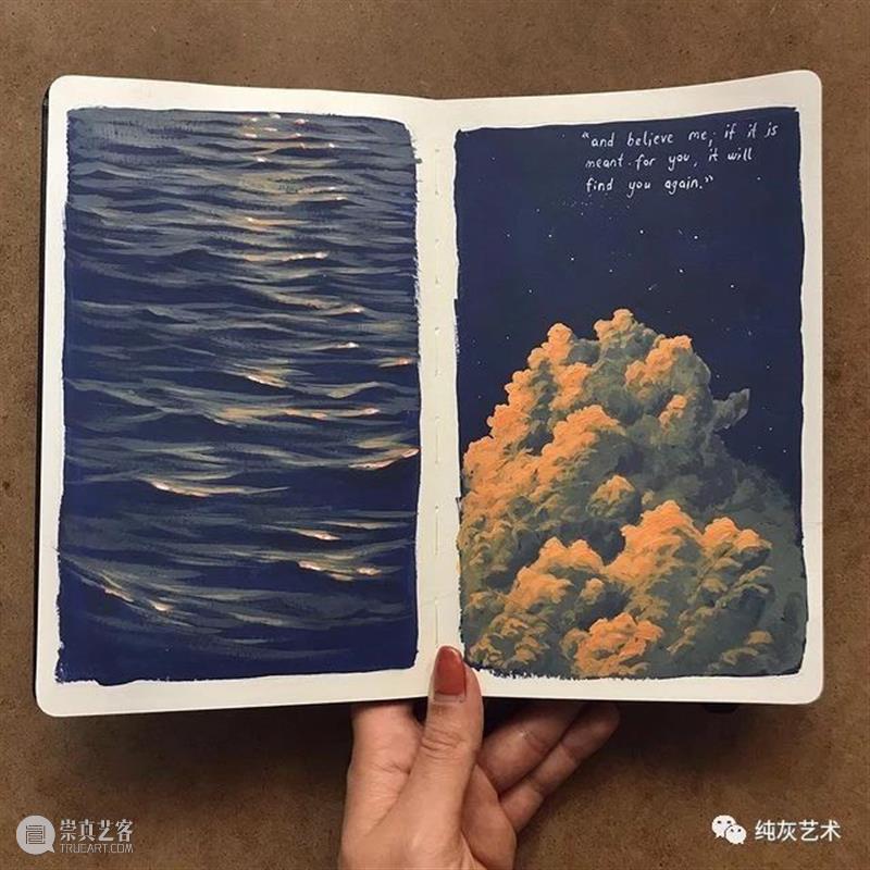 想走进她的速写本里去 速写本 土耳其 艺术家 落日 余晖 海面 小景 作品 往期 好文 崇真艺客