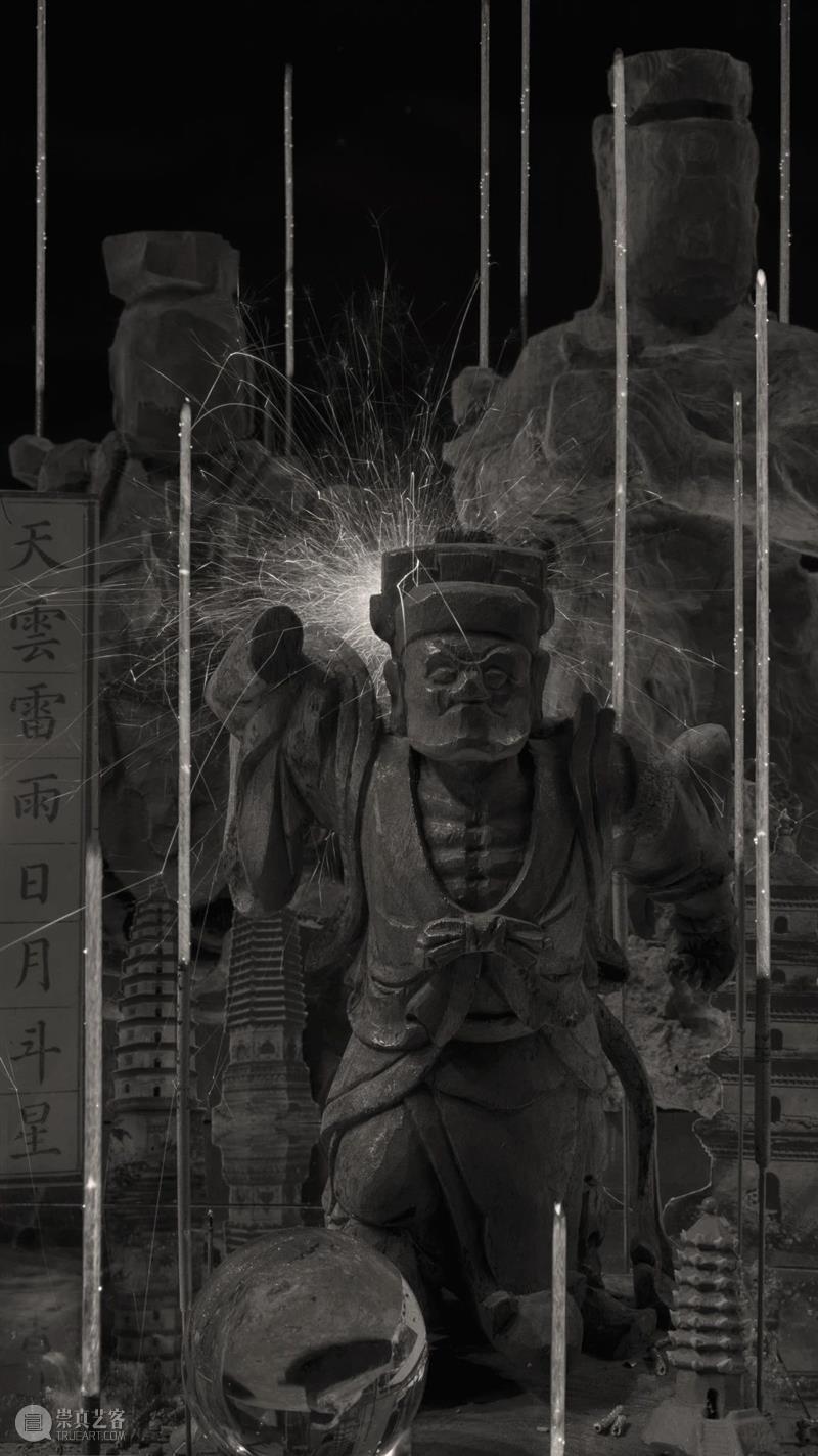 过去的未来主义艺术家:马良  沐浴焚香的 马良 过去 未来 主义 艺术家 刹那 数码 艺术 现场 局部 崇真艺客