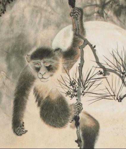 """真假猿丨《松猿图》与""""仿作""""的背后 松猿图 背后 真假猿丨 拍卖行 高奇峰 作品 其中 镜片 风格 真实性 崇真艺客"""
