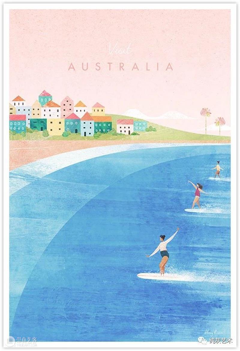 极简复古城市海报 海报 城市 极简 英国 插画家 Rivers 现代 世界上 地区 作品 崇真艺客