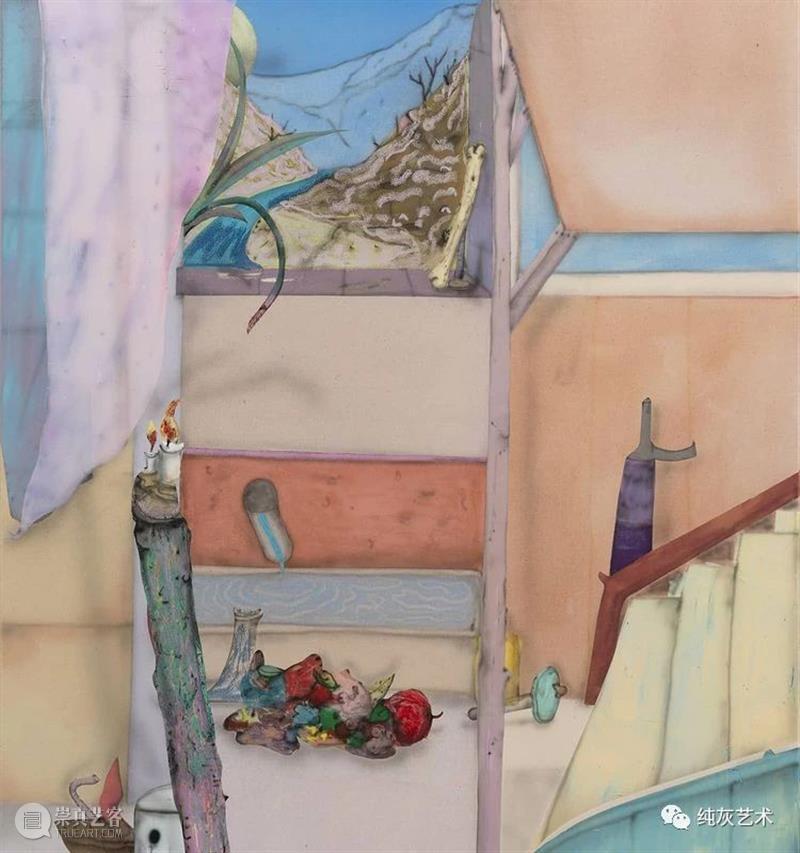 色彩的碰撞衔接  纯灰艺术 色彩 德国 艺术家 Fabian Treibe 画作 室内 主题 现实 看法 崇真艺客
