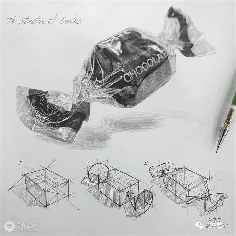 素描静物的结构和质感 素描 静物 结构 质感 韩国 艺术家 anjjaemi 作品 一幅画 细节 崇真艺客