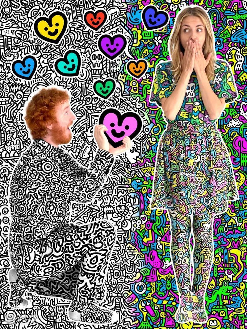 藝術⾨|Mr Doodle粉色《Pop Heart - Jellyfish Passion》版画将于明天正式发售 Heart Passion Doodle Pop 版画 藝術 粉色 系列 北京时间 伦敦 崇真艺客