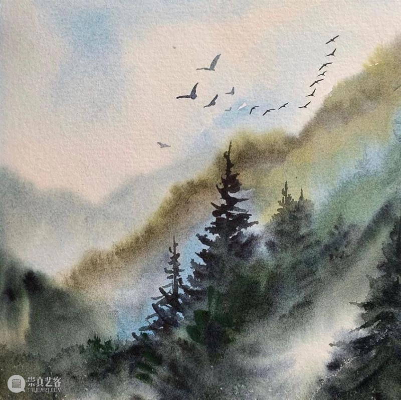 看看什么叫清秀透亮的水彩作品!雪景真的画得太棒了! 水彩 作品 雪景 END 崇真艺客