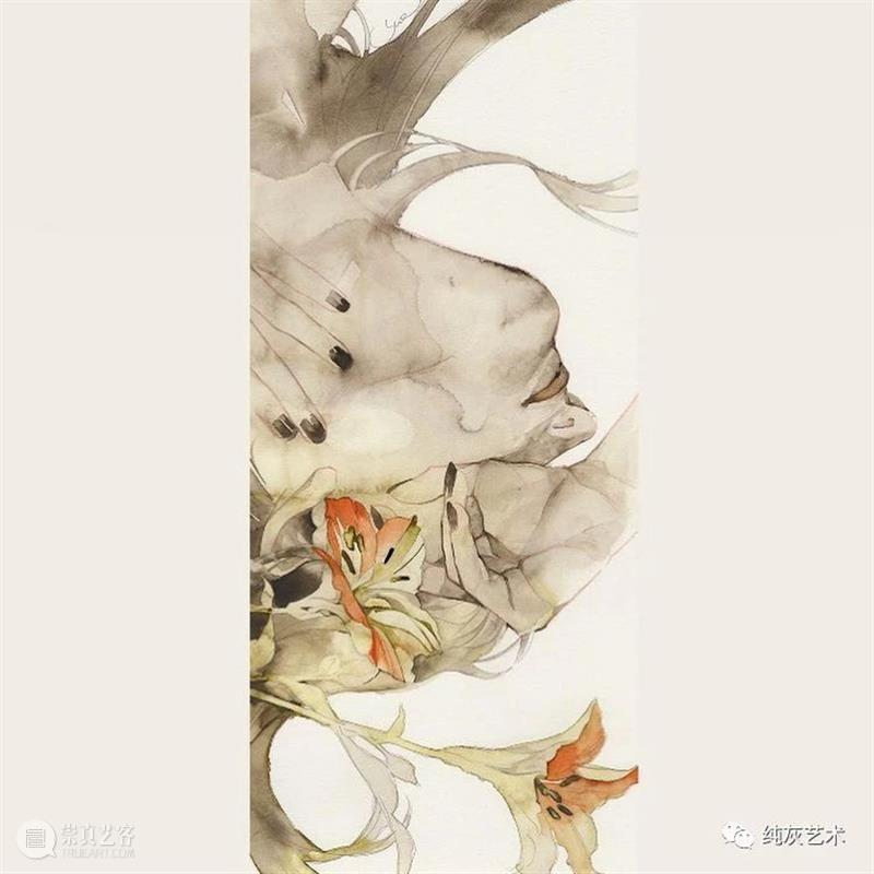 这水彩人像的画风真绝了 水彩 人像 画风 日本 画师 墨水 作品 氛围感 往期 好文 崇真艺客