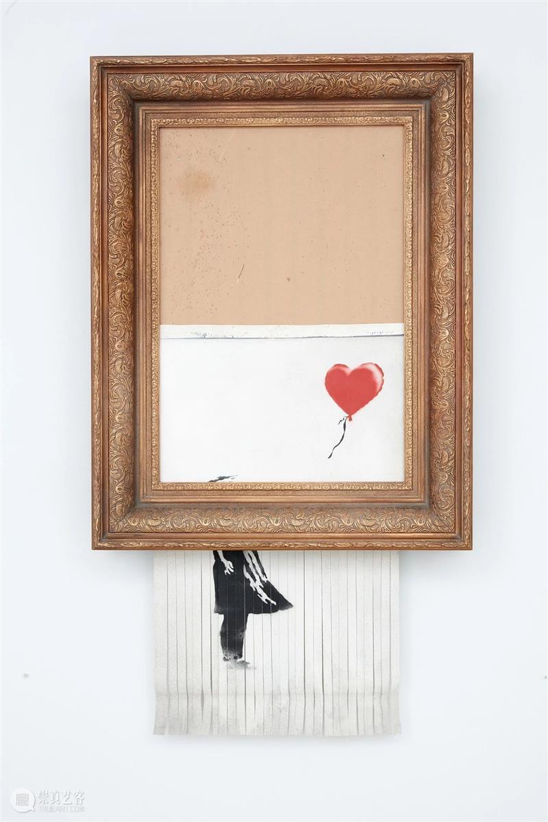 遭碎纸机切碎的班克斯著名画作《垃圾桶中的爱》,十月重归伦敦蘇富比拍场! 艺术财经 苏富比亚洲 班克斯 垃圾桶 伦敦 碎纸机 画作 蘇富比 Banksy Bond Street 画廊 崇真艺客