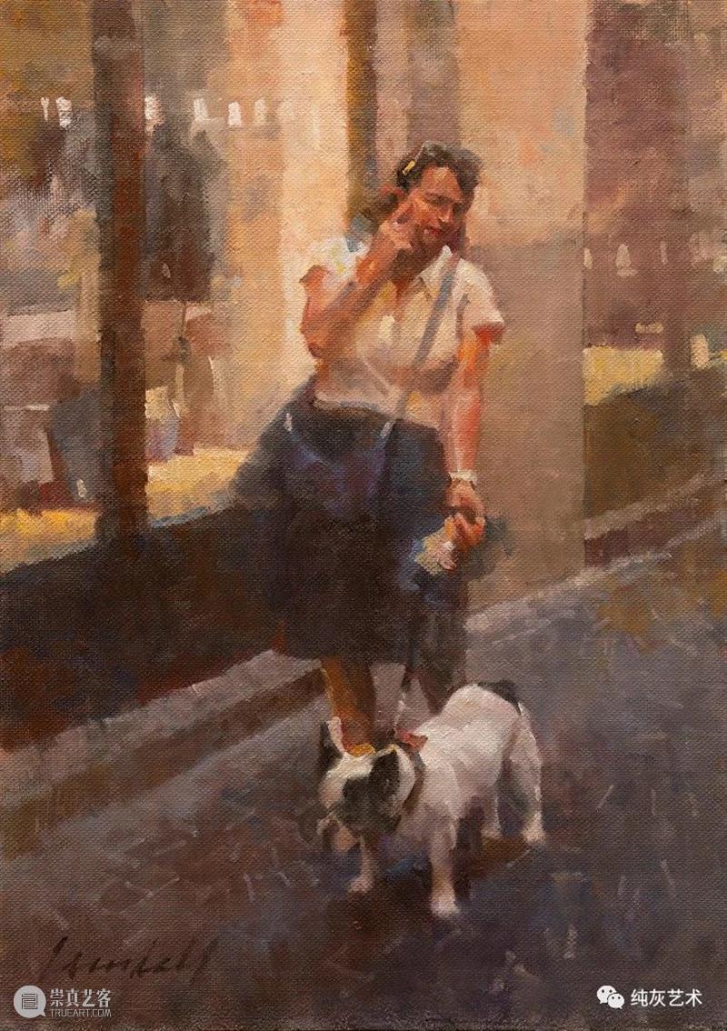 充满人情味和光的场景 场景 人情味 美国 印象派 画家 James Crand all 城市 日常生活 崇真艺客