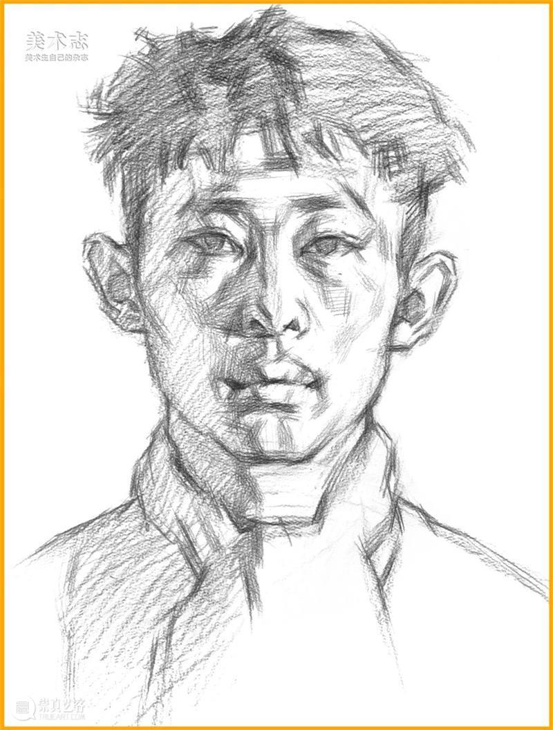 学习【素描头像】,还是得掌握明确的作画步骤和思路 ~ 素描 头像 步骤 思路 同学们 静物 时候 小志 文中 作品 崇真艺客