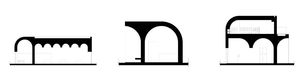 """""""拱""""演变,秦厂村社区中心党建综合体 / Studio 10 党建 综合体 Studio 秦厂村社区中心 张超 秦厂村 河南省 焦作市 修武县 城关镇 崇真艺客"""