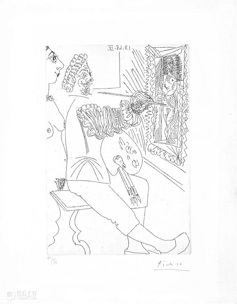 「伟大的重现-毕加索版画艺术展」  三尚当代艺术馆 毕加索 版画 艺术展 杭城 以来 三尚 艺术馆 裸女 铜版 铜板 崇真艺客