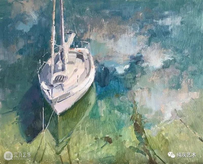 夕阳残影 夕阳 残影 英国 油画家 Bowen 印象派 风格 当地 景色 光线 崇真艺客