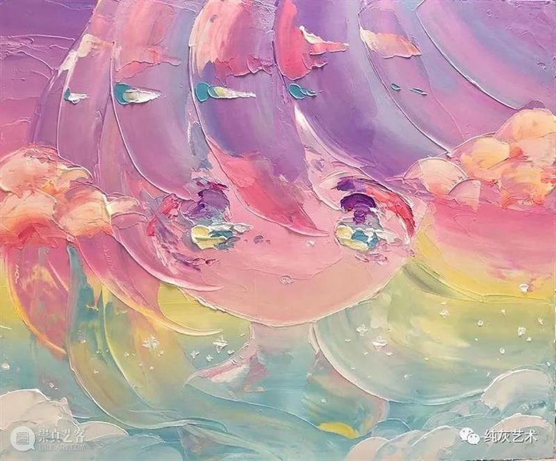 卡哇伊女孩头像 头像 女孩 日本 画师 小田望楓 刮刀 丙烯 人物画 画面 色彩 崇真艺客