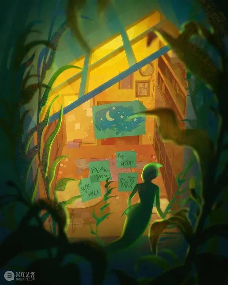 梦幻光亮的世界里  纯灰艺术 世界 数字 插画家 视觉 艺术家 背景 画家 Devin Elle Kurtz 崇真艺客