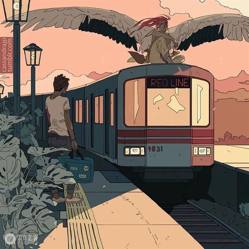 色彩和故事感都如此丰富 色彩 故事感 美国 插画家 漫画家 @cassie 美学 漫画 画面 故事性 崇真艺客
