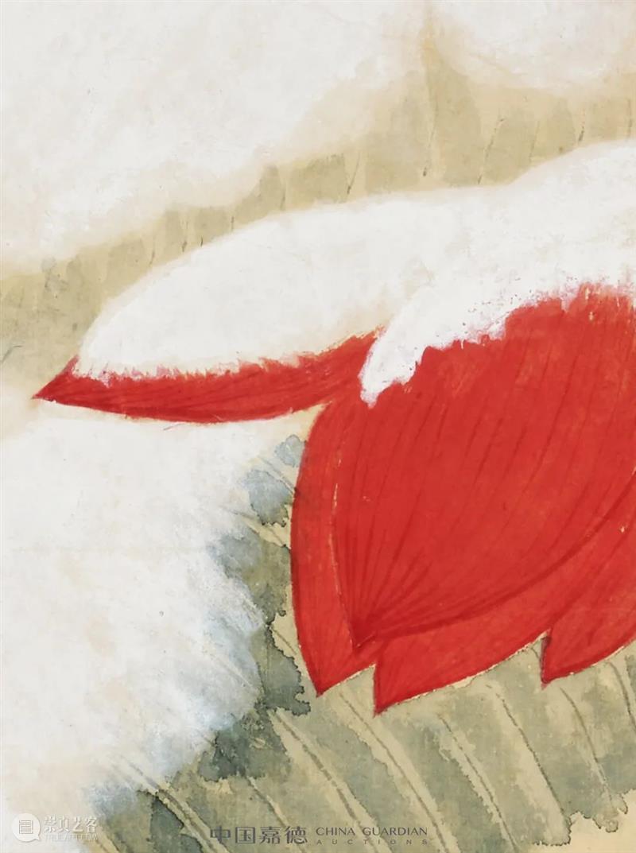 由明而宋 瑞雪丰年——谢稚柳的《瑞雪图》丨中国嘉德2021秋拍 谢稚柳 瑞雪图 中国 瑞雪丰年 嘉德 陈老莲 过程 当中 谢稚柳敏锐 陈氏花 崇真艺客